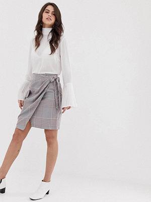 Closet London Closet Kjol med ficka och knytning i midjan