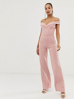 Club L London Club L Jumpsuit med bardotringning