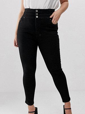 Simply Be Shape & Sculpt Svarta skinny jeans med extra hög midja