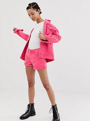 Dr. Denim Jenn Höga shorts med uppvikta byxben Stone pink