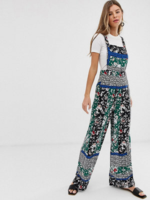 Miss Selfridge Jumpsuit i förklädesmodell med blandade mönster