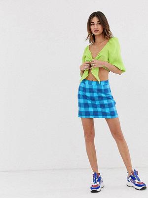 Noisy May Chizy Blå skotskrutig minikjol