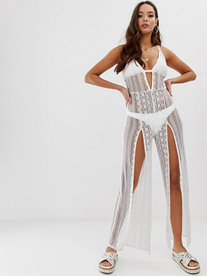 Miss Selfridge Vit jumpsuit till stranden