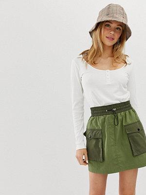 Bershka Grön minikjol med patchwork-design