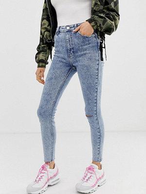 Jeans - Bershka Stentvättade jeans med väldigt hög midja