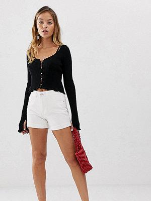 Vero Moda Petite Vita mom shorts med hög midja