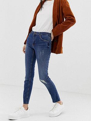 Pimkie Mellanblå skinny jeans med reva