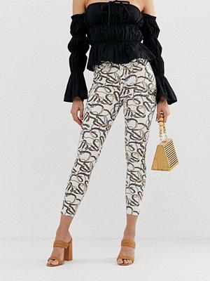 River Island Molly Skinny jeans med kedjemönster Glassmönster