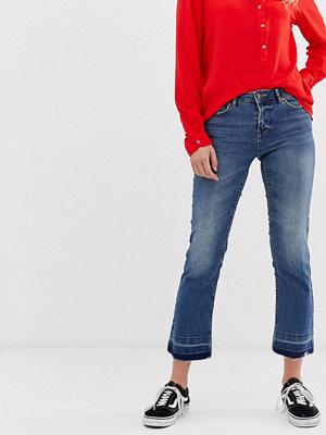 Jdy Magic Skinny jeans med råskuren fåll Mellanblå denim
