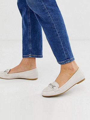 New Look Naturvita loafers med stavdetalj Naturvit