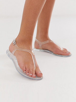 New Look Jelly Genomskinliga platta sandaler