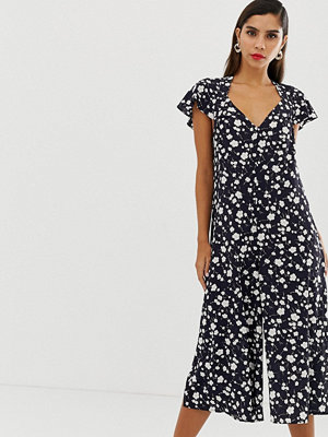 French Connection Blommig jumpsuit Utility blue multi