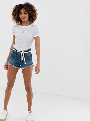 Hollister Jeansshorts med mammapassform Dark with exposed sh
