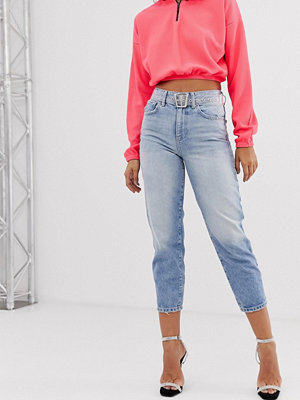 River Island Ljustvättade jeans med barrel-ben Light auth