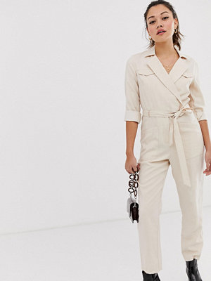 Miss Selfridge Beige overall