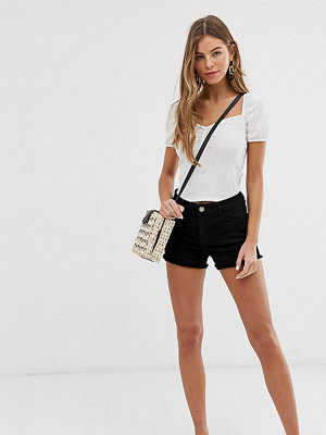Miss Selfridge Svarta jeansshorts