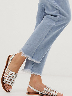 Warehouse Vita sandaler med knut