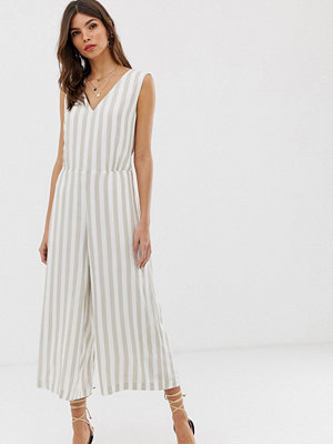 Jumpsuits & playsuits - Vila Randig jumpsuit Vit