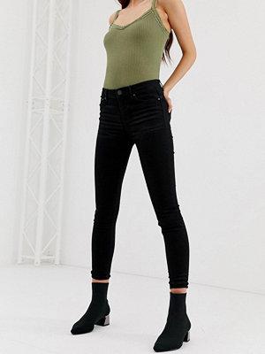 Stradivarius Svarta skinny jeans med hög midja