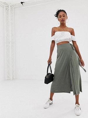Emory Park Flerfärgad randig misaxikjol i omlott-modell