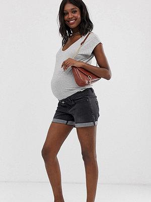 Bandia Maternity Shorts med uppvikt nederkant och löstagbart band