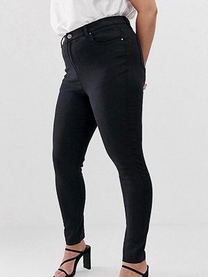 Simply Be Lucy Svarta skinny jeans med hög midja