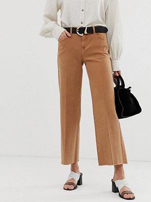 Mango Rostfärgade jeans med ankellånga
