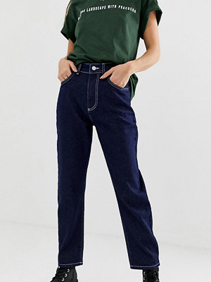 "Reclaimed Vintage The '91 ""mom""-jeans i mörkblå tvätt Indigo"