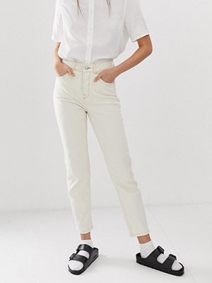 Selected Femme Gräddvita mom jeans