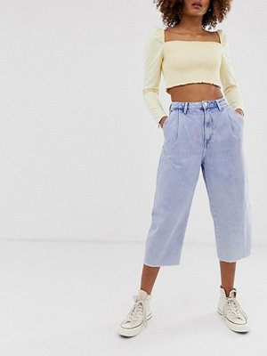 Pepe Jeans Aurora Mom jeans med råkant 000 bleached out den