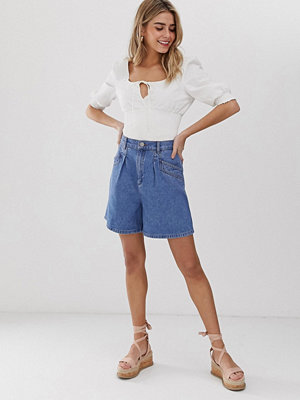 ASOS DESIGN Jeansshorts med ficka