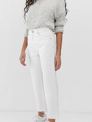ASOS Petite Florence Naturvita straight leg jeans Kritvit