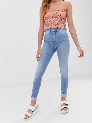 Only Skinny jeans med hög midja Ljusblå demin
