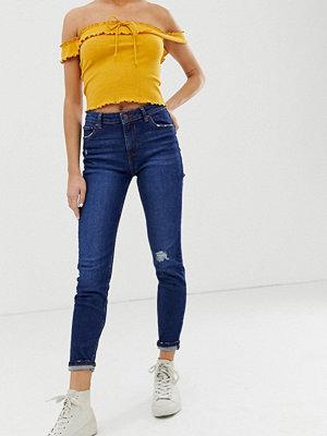 Bershka Marinblå skinny jeans Marinblå
