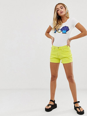 Love Moschino Gula jeansshorts Q71 lime