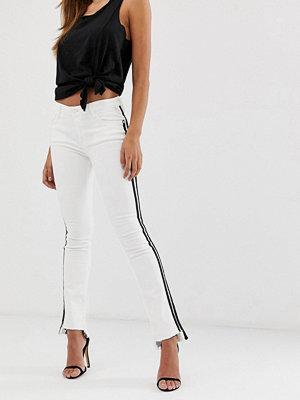 Replay Vita ankellånga bootcut-jeans med svart rand
