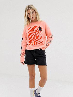 Collusion Svarta shorts i mom-modell med tvättad look