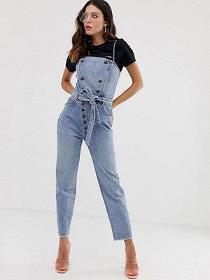 Miss Sixty Jumpsuit i denim med knappdetalj Blå denim