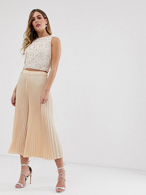Lace & Beads Rosa culotte-byxor