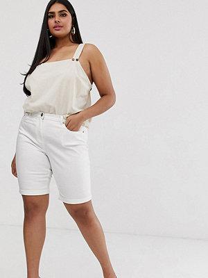 Simply Be Vita jeansshorts i longline-modell