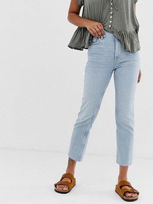 Free People Kick flare jeans med hög midja Lt denim