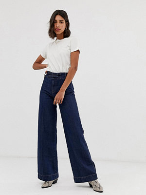 Free People Big Bell wide leg jeans Mörk denim