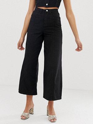 FAE Wide leg jeans med hög midja