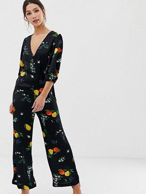 Capulet Isalina Citronmönstrad jumpsuit Fruit bee print