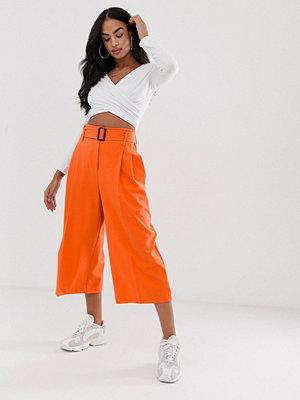 ASOS DESIGN Orange culotte-byxor med skärp