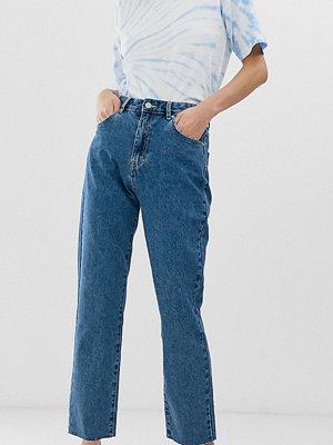 Pull&Bear Rigid Mörkblå mom jeans Mörkblå