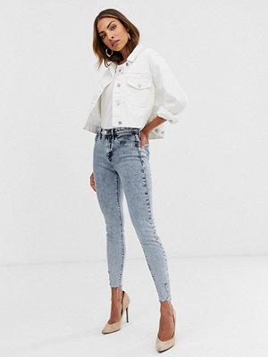 River Island Molly Ljusa stentvättade skinny jeans Mid auth acid