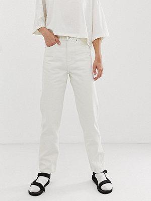 Weekday Recycled edition Naturvita jeans med raka ben Naturvit