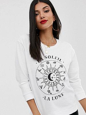 Asos Tall Sweatshirt med zodiaktryck