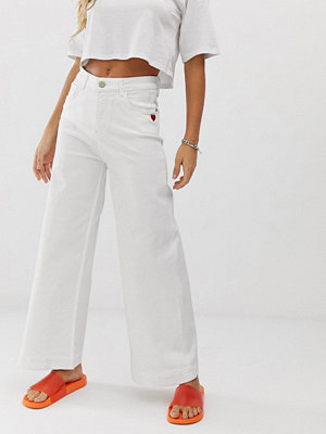 Love Moschino Vita wide leg jeans A01 vit